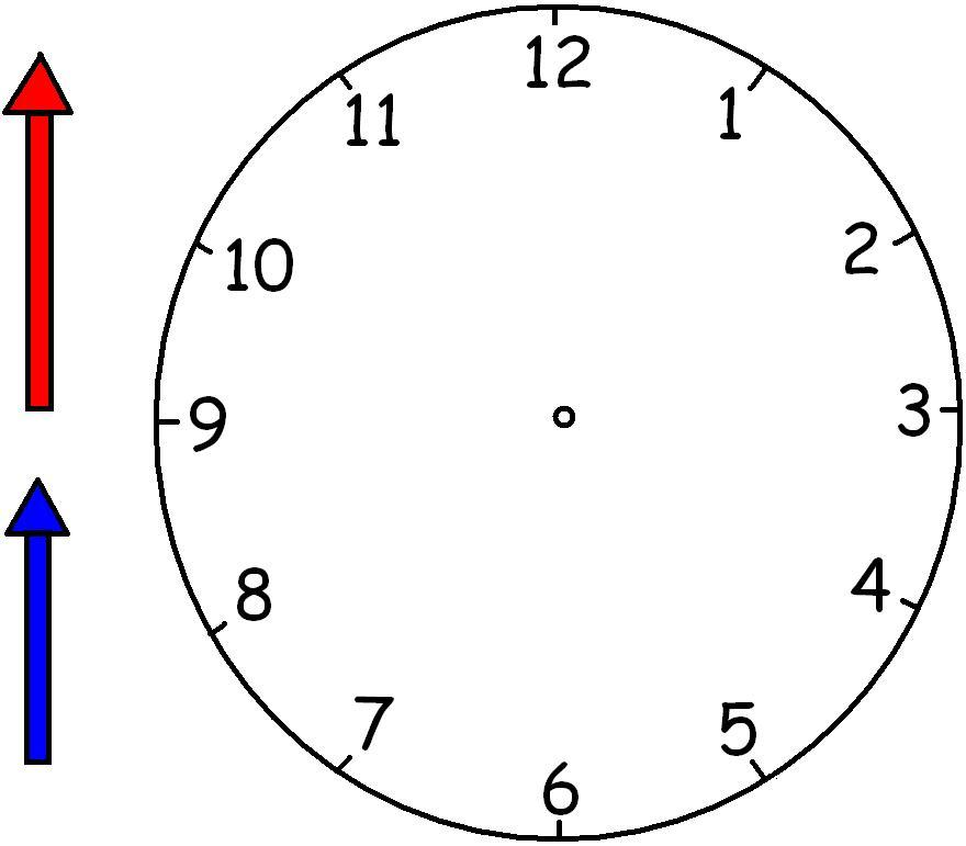 Preschool printables for Printable clock hands template